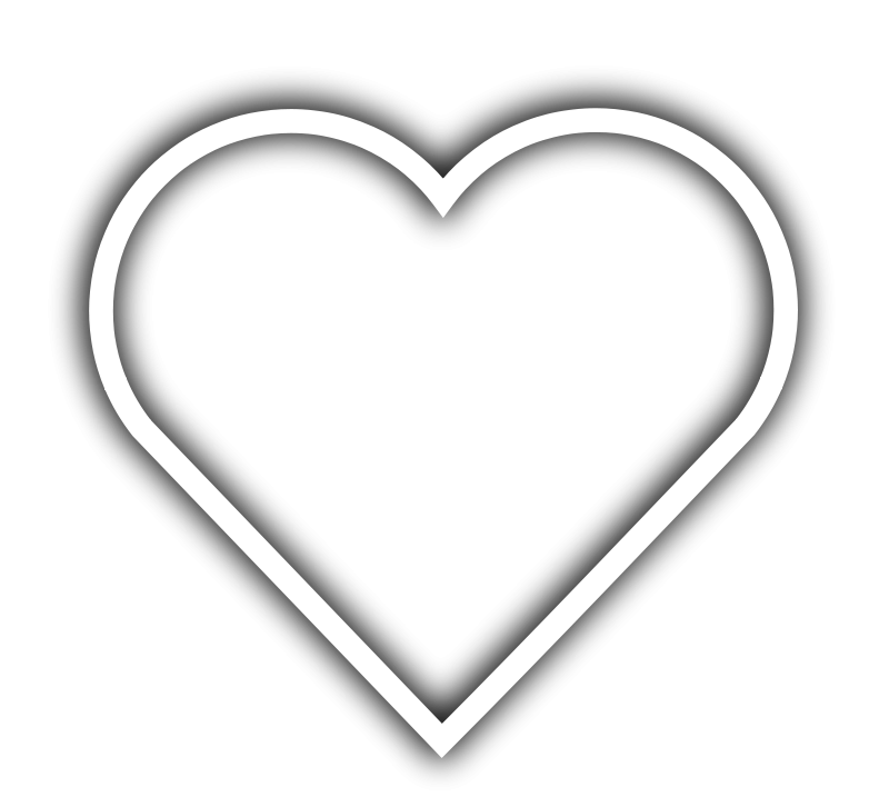 Heart outline coloring page
